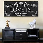 e-home®パーソナライズされた署名キャンバスフレーム - 愛は結婚式です