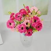 campo de mariposa de seda artificial flores de las orquídeas 2 paquetes / porción para la decoración