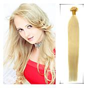 grado 5a 1pc / lot 20inch / 50cm multicolors fusión recta / u punta extensión del pelo del pelo humano teje 0.5g / s