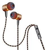 plextone® x41m in-ear auriculares de metal bajo pesado con el mic y Compatibe para iPhone6 / iPhone6 más móvil / pad / mp3 / pc