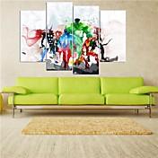 Impresiones en Lienzo Estirado Caricatura Cinco Paneles Horizontal Decoración de pared For Decoración hogareña