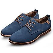 メンズ 靴 スエード 春 秋 冬 コンフォートシューズ アイデア オックスフォードシューズ 編み上げ 用途 カジュアル パーティー ブラック Brown ブルー