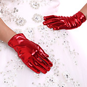 スパンデックス 手首丈 グローブ ブライダル手袋 パーティー/イブニング手袋