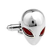 戦いエイリアンロボット赤フレンチシャツカフスカフネイル