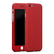 用途 iPhone X iPhone 8 iPhone 6 iPhone 6 Plus ケース カバー 耐衝撃 フルボディー ケース 純色 ハード PC のために iPhone X iPhone 8 Plus iPhone 8 iPhone 6s Plus iPhone 6