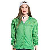 女性用 ハイキング ジャケット アウトドア 防水 速乾性 防風 抗紫外線 耐久性 高通気性 軽量素材 ウインドブレーカー ジャケット トップス フルオープンファスナー キャンピング&ハイキング 釣り ビーチ サイクリング / バイク ランニング オートバイ カントリー