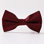 男性のパーティー/夕方の結婚式のワイン赤いペイズリーフォーマルなツイルの蝶ネクタイ