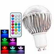 GU10 LEDボール型電球 A60(A19) 3 LEDの ハイパワーLED 調光可能 リモコン操作 装飾用 RGB 400lm RGBK AC 100-240V