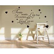 Slova a citáty / Módní Samolepky na zeď Samolepky na stěnu , PVC 72*40CM