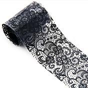 1ks 3d černý aplikované ozdoby nail art fóliové samolepky květ obtisky na nehty tipy manikúra nástroj populární (100 x 4 cm)