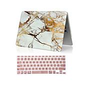 """2 1大理石のフルボディハードケース+キーボードカバーでのMacBookの空気のための11 """"プロ13.3"""" /15.4 """""""