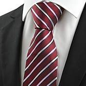 Hombre Corbata Vintage / Bonito / Fiesta / Trabajo / Casual-Algodón / Poliéster / Rayón A Rayas Todas las Temporadas