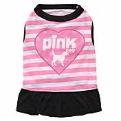 ネコ 犬 ドレス 犬用ウェア 高通気性 ファッション 花/植物 パープル ピンク コスチューム ペット用