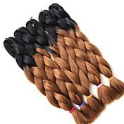 """ジャンボブレイズ 1個/パック ヘアブレイズ 箱三つ編み 24 """" グラデーション・ブレーズヘア 100%カネカロンヘア 図1b /#30 ブレイズヘア ヘアエクステンション"""