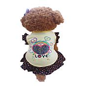 Perro Vestidos Ropa para Perro Corazones Amarillo Disfraz Para mascotas