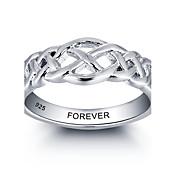 ファッション関税の名前は、女性のためのパーソナライズされた925の純銀製の指輪