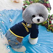 Perro Mono Ropa para Perro Bonito Moda Vaqueros Azul Azul Claro Disfraz Para mascotas