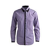 JamesEarl Hombre Cuello Camisero Manga Larga Camisa y blusa Morado - DA112045818