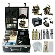 baekey máquina de tatuaje kit k0132 2 con empuñadura upply poder de limpieza de agujas bruh