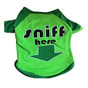 Perro Camiseta Ropa para Perro Letra y Número Verde Disfraz Para mascotas