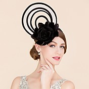 fascinators de la seda de la pluma del lino sombreros headpiece estilo femenino clásico