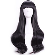 Mujer Pelucas sintéticas Rizado Negro Con flequillo Peluca de Halloween Peluca de carnaval Pelucas para Disfraz