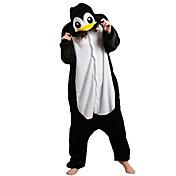 着ぐるみ パジャマ ペンギン レオタード/着ぐるみ イベント/ホリデー 動物パジャマ ハロウィーン 黒、白 パッチワーク フリース きぐるみ ために 男女兼用 ハロウィーン カーニバル