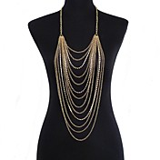 Dámské Tělové ozdoby Kovový pás Tělo Chain / Belly Chain Štras imitace Diamond Sexy Zlatá Šperky Denní Ležérní 1ks