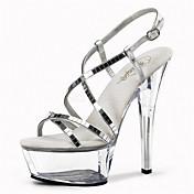 Mujer Zapatos Purpurina Primavera / Verano Zapatos con luz / Zapatos del club Tacones / Sandalias Tacón Stiletto / Plataforma / Tacón de