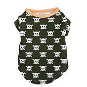 Perro Camiseta Ropa para Perro Casual/Diario Moda Cráneos Disfraz Para mascotas