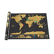 Mapa de Scratch Scratch Off Mapa del mundo para viajeros Juguetes Mapa Adulto 1 Piezas