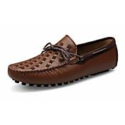 Hombre-Tacón Plano-Confort-Calzado de Barco-Informal-Cuero-