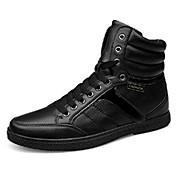Hombre Zapatos PU Primavera Otoño Zapatillas de deporte para Casual Negro