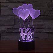 amor toque atenuación 3d llevó luz de la noche 7colorful decoración atmósfera lámpara novedad luz de iluminación