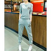 Mujer Activewear Casual/Diario Activo Estampado Escote Redondo Microelástico Rayón Manga Larga Otoño