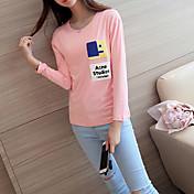Mujer Estampado - Camiseta Algodón
