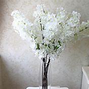 1 Afdeling Polyester Plastik Sakura Bordblomst Kunstige blomster 39.37inch/100CM
