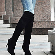 女性-アウトドア オフィス カジュアル-レザーレット-スティレットヒール-ファッションブーツ-ブーツ-ブラック ブルー ブラウン ホワイト グレイ