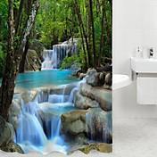モダン ポリエステル 180 x 200cm (L x W) - 高品質 シャワー用カーテン