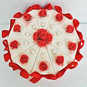 Cilindro Papel de tarjeta Soporte para regalo  Con Flores Cintas Arco Cajas de regalos