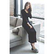 女性用 シース ドレス - スリット, ソリッド