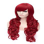 Mujer Pelucas sintéticas Ondulado Grande Rojo Peluca de cosplay Pelucas para Disfraz
