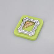 ミラーフレーム形のフォンダンシリコーン金型石鹸キャンドル金型砂糖工芸ケーキ色をランダムに飾る