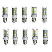 E14 G9 GU10 E26/E27 B22 LEDコーン型電球 チューブ 69 LEDの SMD 5730 防水 装飾用 温白色 クールホワイト 850-950lm 3000/6000K 交流220から240 AC 110-130V