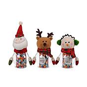 1pc mascota navidad tarro de caramelos verde - Papá Noel / muñeco de nieve / elk (color al azar)