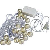 Jiawen 20-ledede 5m varm hvid jul ferie dekoration string lys (ac 110-220V)
