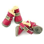 Perro Zapatos y Botas Botas de nieve Mantiene abrigado A Prueba de Agua Moda Sólido Marrón Rojo Azul Wine Verde Oscuro Para mascotas