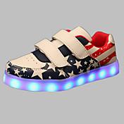 Para Niño-Tacón Plano-Confort Light Up Zapatos-Zapatillas de deporte-Exterior Informal Deporte-PU-Azul Rosa Rojo