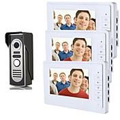 800 x 480 92° CMOS Sistema de timbre Alámbrico Fotografiado Timbre video Multifamiliares