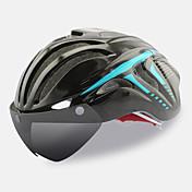FTIIER バイクヘルメット 18 通気孔 CE サイクリング 調整可 ワンピース グーグルとのヘルメット エアロヘルメット フルフェイス 都市 スポーツ 青少年 PC EPS ロードバイク サイクリング / バイク マウンテンバイク